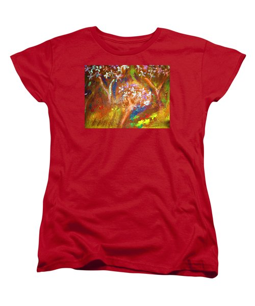 Women's T-Shirt (Standard Cut) featuring the painting Spring Blossom by Winsome Gunning