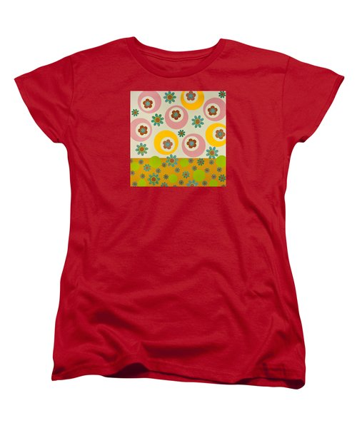 Women's T-Shirt (Standard Cut) featuring the mixed media Spring Delight by Gloria Rothrock