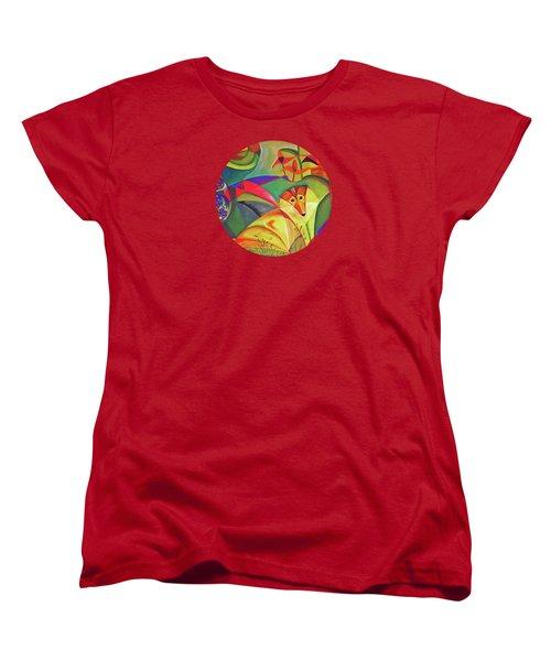 Spring Dog Women's T-Shirt (Standard Cut) by AugenWerk Susann Serfezi