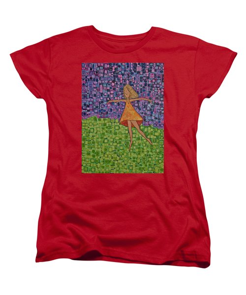 Women's T-Shirt (Standard Cut) featuring the painting Spring by Donna Howard