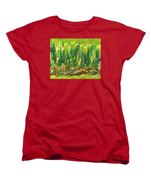 Women's T-Shirt (Standard Cut) featuring the painting Spring Garden by Holly Carmichael