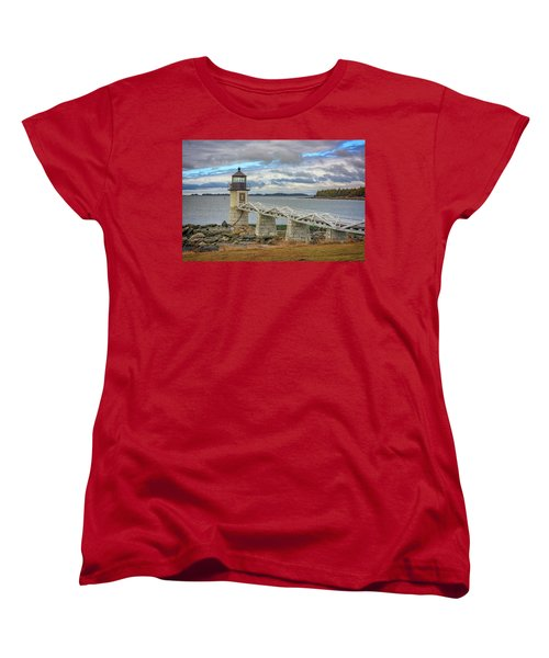 Women's T-Shirt (Standard Cut) featuring the photograph Spring Morning At Marshall Point by Rick Berk
