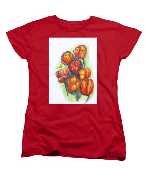 Spring Tulips Women's T-Shirt (Standard Cut) by Clyde J Kell