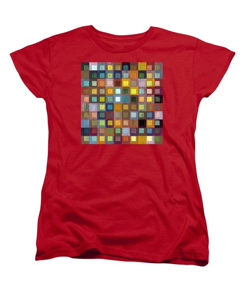 Women's T-Shirt (Standard Cut) featuring the digital art Squares In Squares One by Michelle Calkins