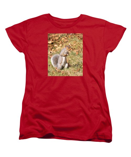 Women's T-Shirt (Standard Cut) featuring the photograph Squirrely Me by Debbie Stahre
