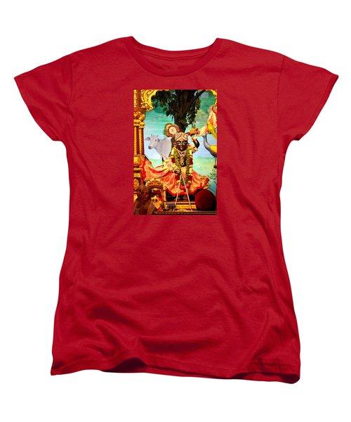 Sri Nath Ji, Radha Gopinath Mandir, Mumbai Women's T-Shirt (Standard Cut) by Jennifer Mazzucco