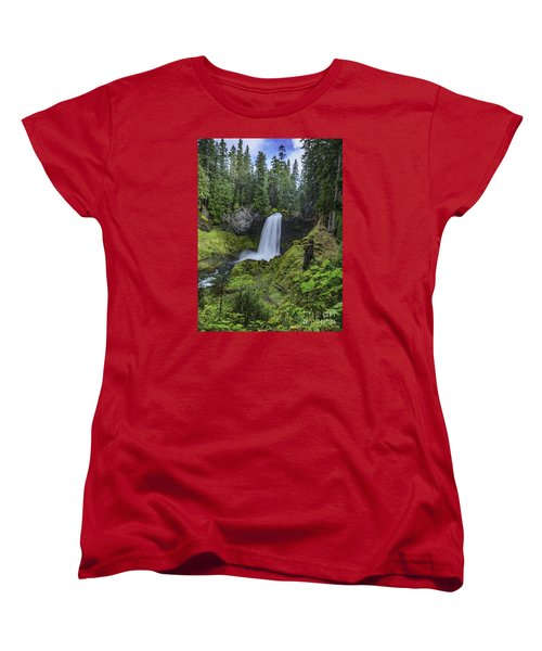 Sahalie Falls,oregon Women's T-Shirt (Standard Cut) by Nancy Marie Ricketts