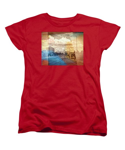 Women's T-Shirt (Standard Cut) featuring the photograph St. Paul Capital Building by Susan Stone