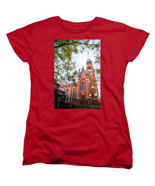 Women's T-Shirt (Standard Cut) featuring the photograph St Paul's Cathedral In Downtown Birmingham by Shelby Young