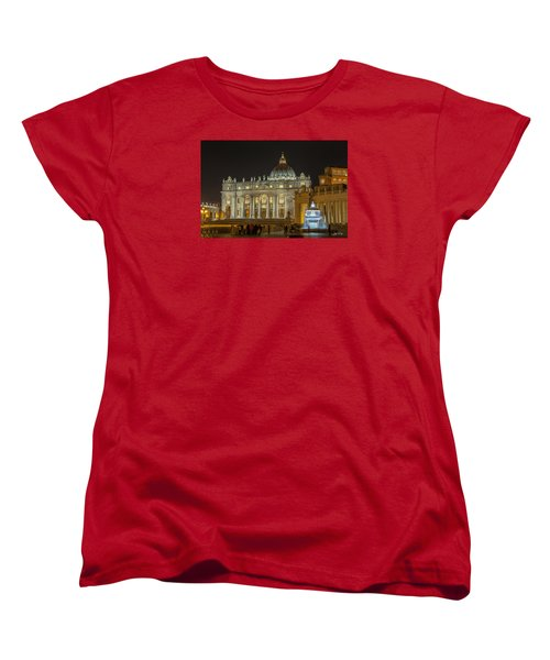 Women's T-Shirt (Standard Cut) featuring the photograph St. Peter Basilica by Ed Cilley