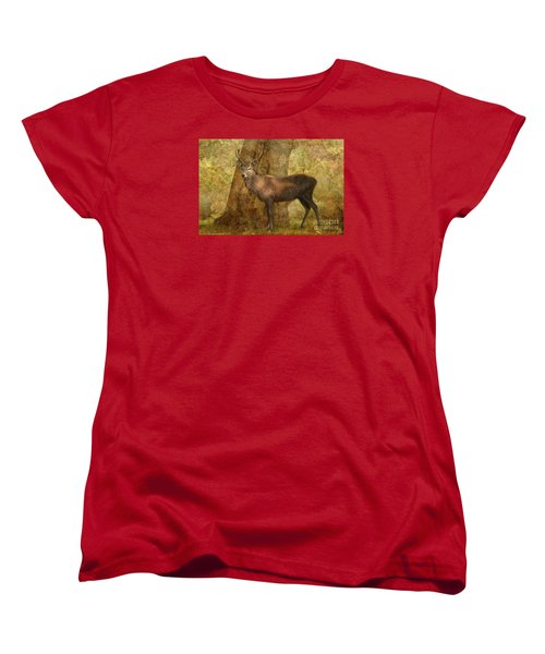 Stag Party Autumn Shade Women's T-Shirt (Standard Cut) by Linsey Williams