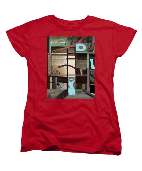 Women's T-Shirt (Standard Cut) featuring the mixed media Stage by Andrew Drozdowicz