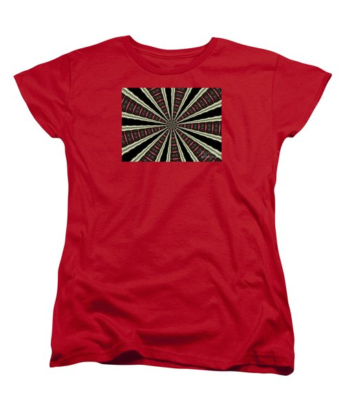 Stained Glass Kaleidoscope 14 Women's T-Shirt (Standard Cut) by Rose Santuci-Sofranko