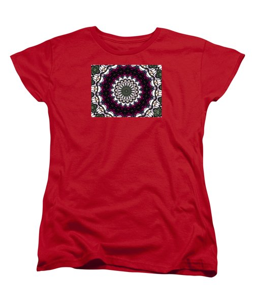 Stained Glass Kaleidoscope 4 Women's T-Shirt (Standard Cut) by Rose Santuci-Sofranko