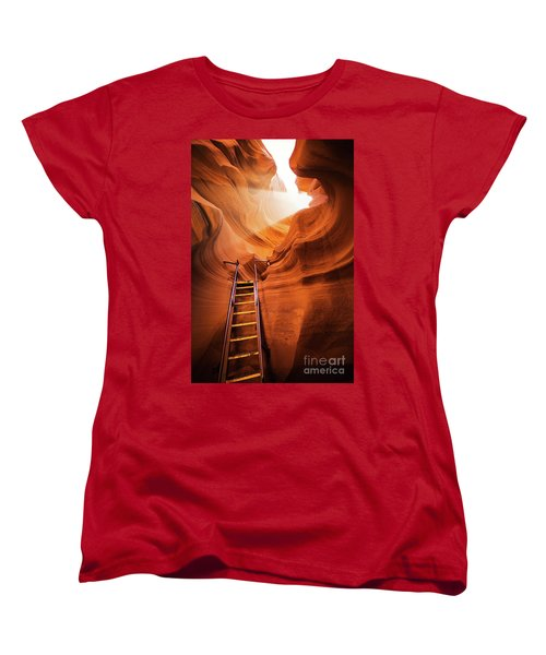 Stairway To Heaven Women's T-Shirt (Standard Cut) by JR Photography