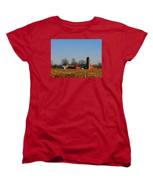 Standing Still Patiently Waiting Women's T-Shirt (Standard Cut) by Tina M Wenger