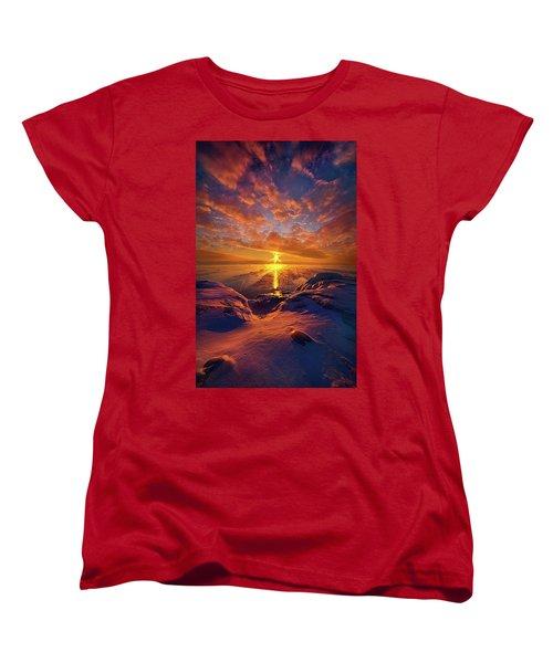 Women's T-Shirt (Standard Cut) featuring the photograph Standing Stilled by Phil Koch