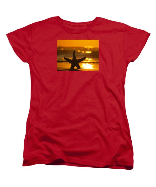 Women's T-Shirt (Standard Cut) featuring the photograph Star Bokeh by Nikki McInnes