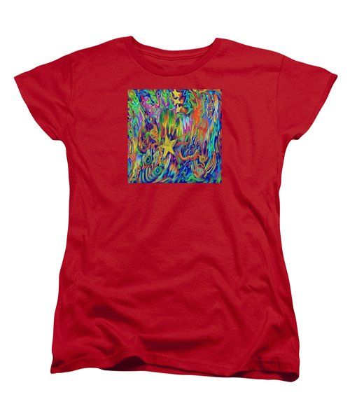 Star E Nite Women's T-Shirt (Standard Cut) by Kevin Caudill