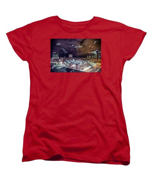 Women's T-Shirt (Standard Cut) featuring the photograph Star Wars Detroit by Nicholas Grunas