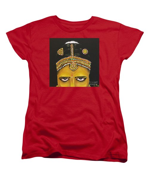 Women's T-Shirt (Standard Cut) featuring the painting Stare by Brindha Naveen