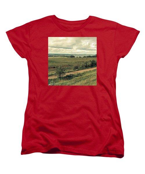 Stausee Kelbra  #nature  #flowers Women's T-Shirt (Standard Cut) by Mandy Tabatt