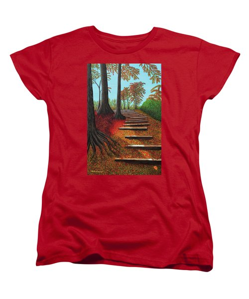Almost There Women's T-Shirt (Standard Cut) by Donna Manaraze