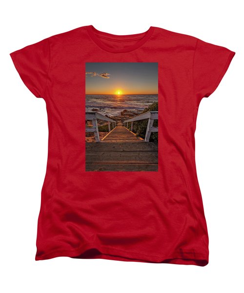 Steps To The Sun  Women's T-Shirt (Standard Cut) by Peter Tellone