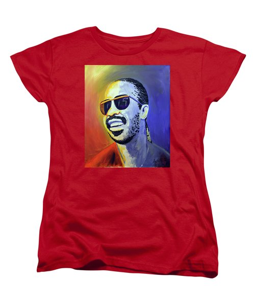 Stevie Wonder Women's T-Shirt (Standard Fit)