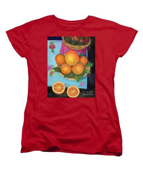 Still Life Oranges And Grapefruit Women's T-Shirt (Standard Cut) by Marlene Book