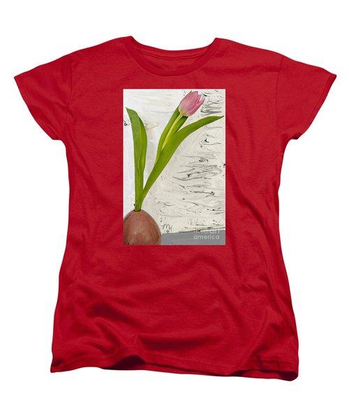 Still Life Tulip Women's T-Shirt (Standard Cut) by Marsha Heiken