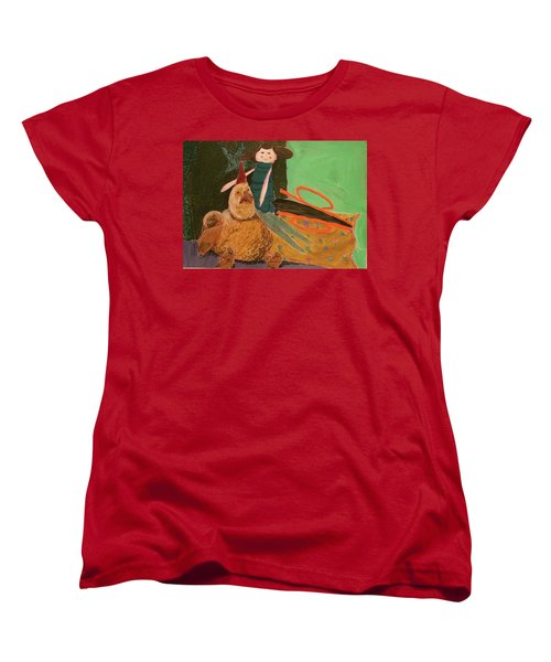 Women's T-Shirt (Standard Cut) featuring the pastel Still Life With Old Toys by Manuela Constantin
