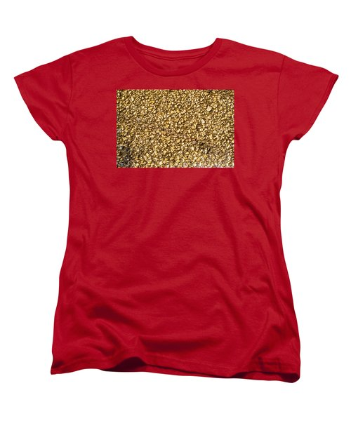 Women's T-Shirt (Standard Cut) featuring the photograph Stone Chip On A Wall by John Williams