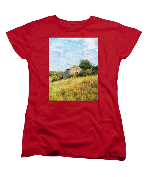 Provence Countryside Women's T-Shirt (Standard Cut) by Catherine Alfidi