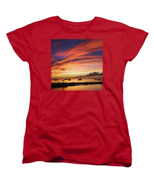Store Bay, Tobago At Sunset #view Women's T-Shirt (Standard Cut) by John Edwards