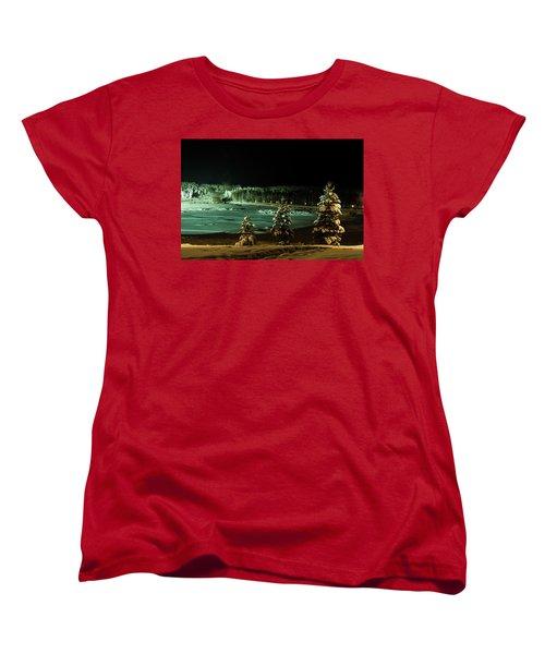 Storforsen In Night Women's T-Shirt (Standard Cut) by Tamara Sushko