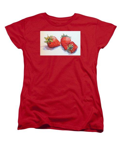 Strawberries Women's T-Shirt (Standard Cut)