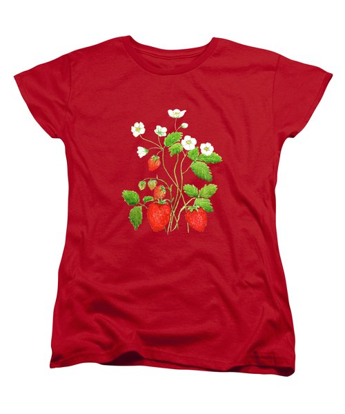 Strawberry  Women's T-Shirt (Standard Cut) by Color Color