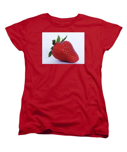 Strawberry Women's T-Shirt (Standard Cut) by Julia Wilcox