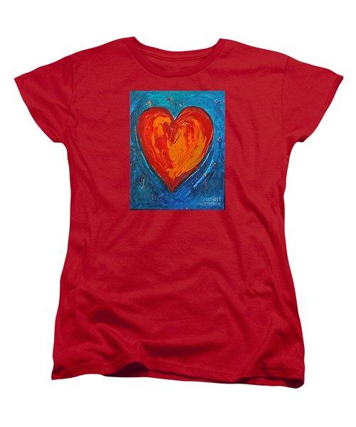 Strong Heart Women's T-Shirt (Standard Cut) by Diana Bursztein