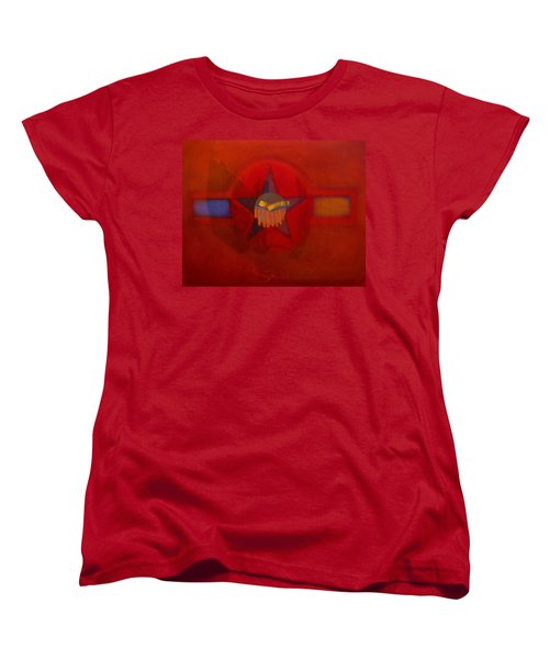 Women's T-Shirt (Standard Cut) featuring the painting Sub Decal by Charles Stuart