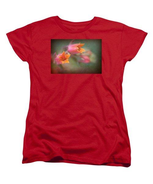 Women's T-Shirt (Standard Cut) featuring the photograph Succulent Flower by Catherine Lau