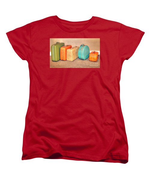 Suitcases Women's T-Shirt (Standard Cut) by Marion Johnson