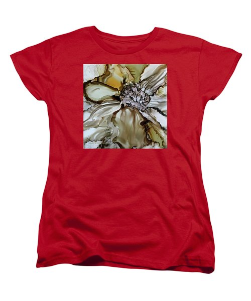 Women's T-Shirt (Standard Cut) featuring the painting Sultry Petals by Joanne Smoley