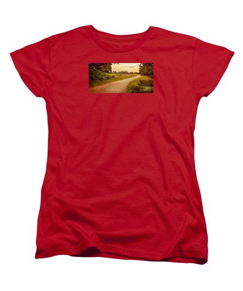 Women's T-Shirt (Standard Cut) featuring the photograph Summer At Bradgate Park Leicestershire by Linsey Williams