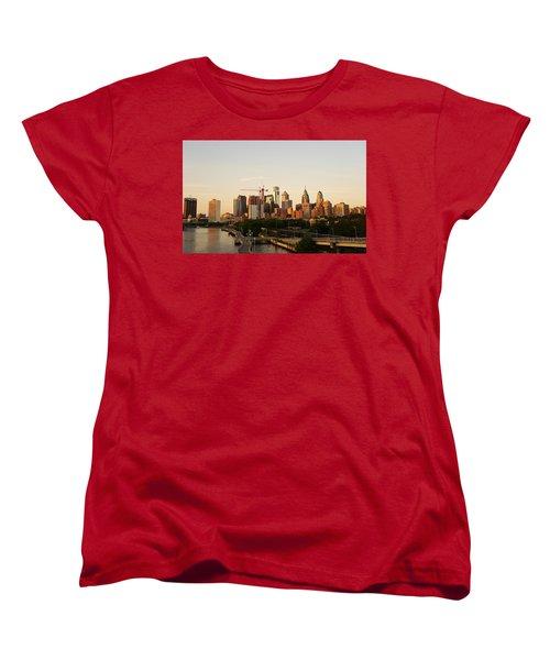 Summer Evening In Philadelphia Women's T-Shirt (Standard Cut) by Ed Sweeney