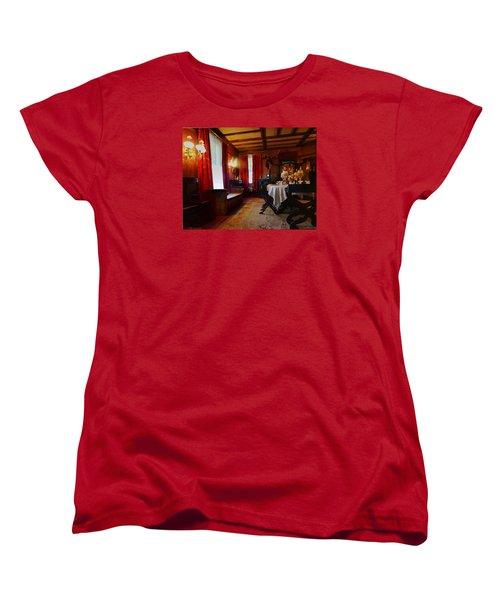 Summer House Women's T-Shirt (Standard Cut) by Mikki Cucuzzo