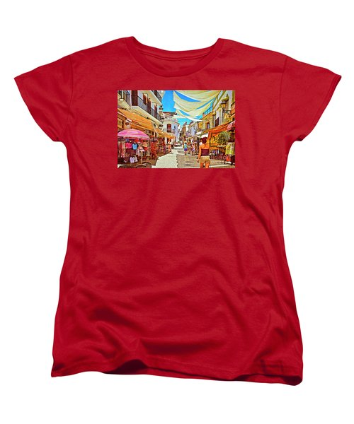 Women's T-Shirt (Standard Cut) featuring the photograph Summer In Malaga by Mary Machare