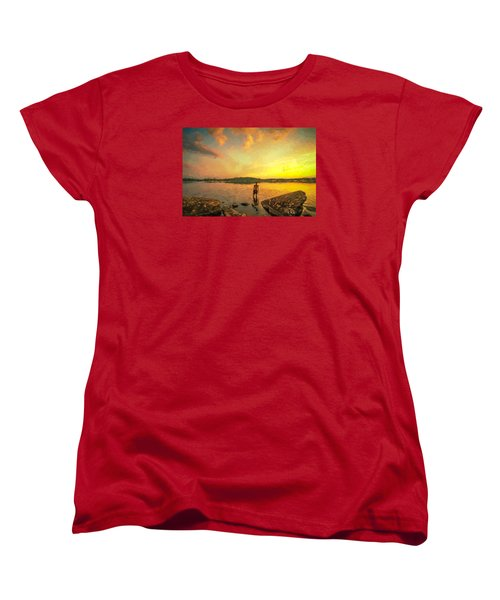Women's T-Shirt (Standard Cut) featuring the painting Summer Joy by Rose-Maries Pictures