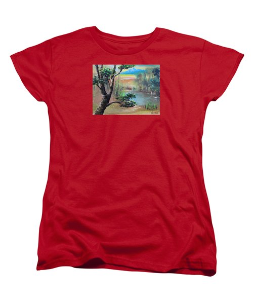 Summer Leaves Women's T-Shirt (Standard Cut) by Remegio Onia